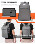 Backpack - USB Charging - Night Reflection - Anti-theft Backpack