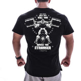 Gym Stronger Black Tee (Several Designs)