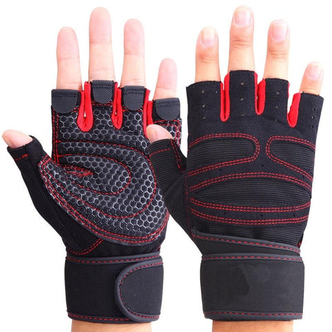 Half Finger Wrist Support Weightlifting Gloves