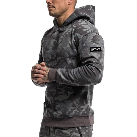 Hoodies For Him - Camouflage Autumn Gym Hoodie