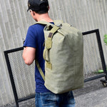 Large Capacity Gym Canvas Rucksack