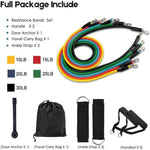 Sport Accessories - Gym Fitness Resistance Set (11 Pieces)