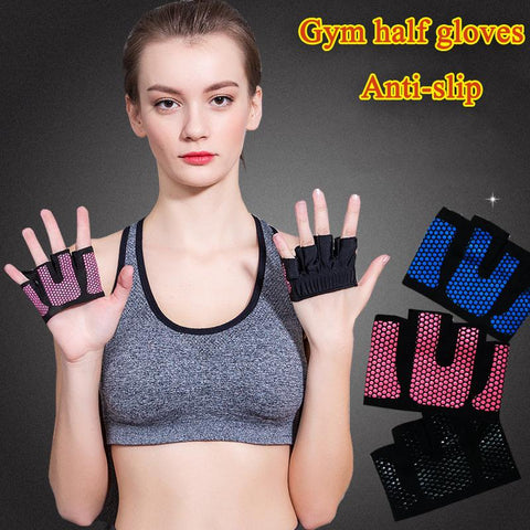 Sport Accessories - Men Women Weightlifting Anti-slip Half Gloves