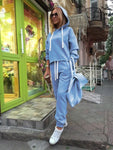 Sport Suit - Autumn Sport Loose Fit Tracksuit (2 Pcs.)