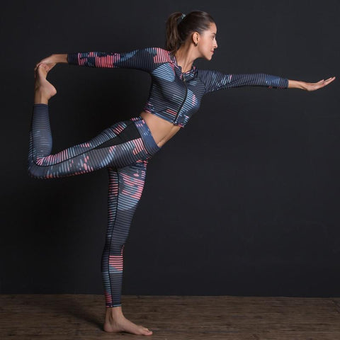 Sport Suit - Print Fitness 2 Piece Sport Suit - Can Be Sold Separately.