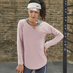 T-Shirt For Her - Long Sleeve Yoga Workout Top