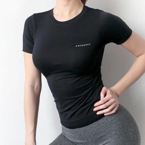 T-Shirt For Her - Yoga Training Gym Fit Top
