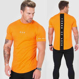 T-Shirts For Him - Fitness Patchwork Slim T-shirt