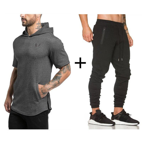 Tracksuit For Him - ASRV Gym Workout Suit - Hoodie + Pants.
