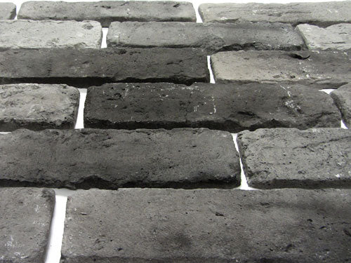 Old Graphite Brick Slips Angled View