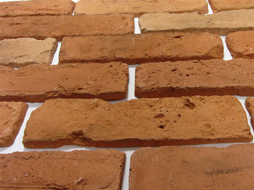 Old Natural Brick Slips Angled View