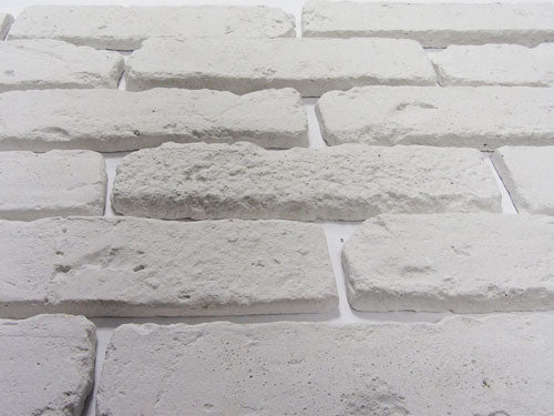 Old White Brick Slips Angled View