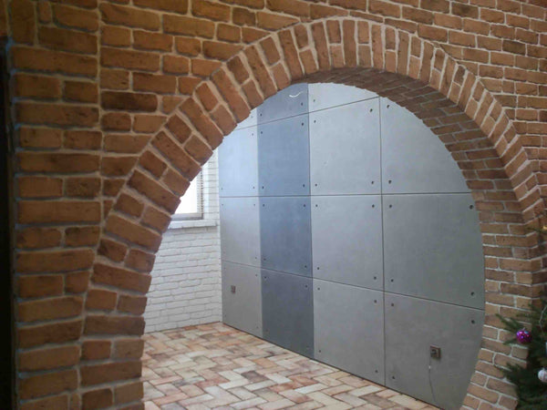 Old Beige Brick Slips Used On An Archway
