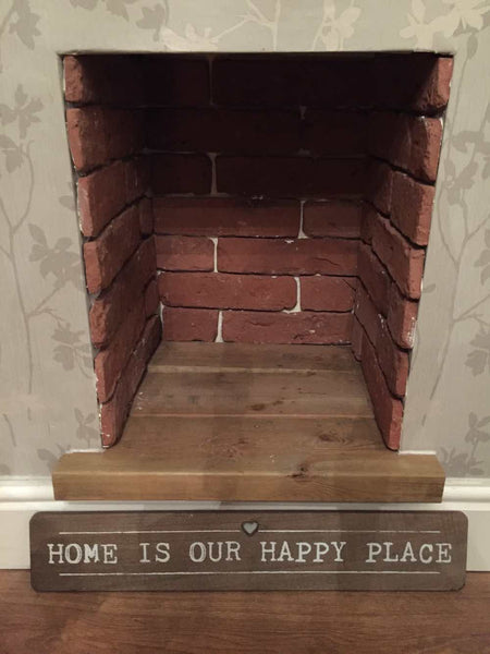 Old Gothic Brick Slip Fireplace Feature