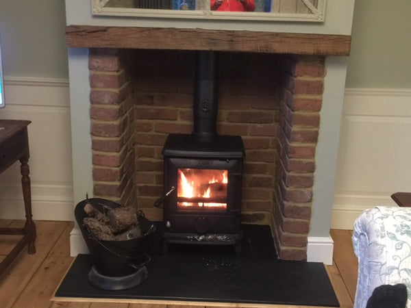 Old Gothic Brick Slips Used In A Fireplace