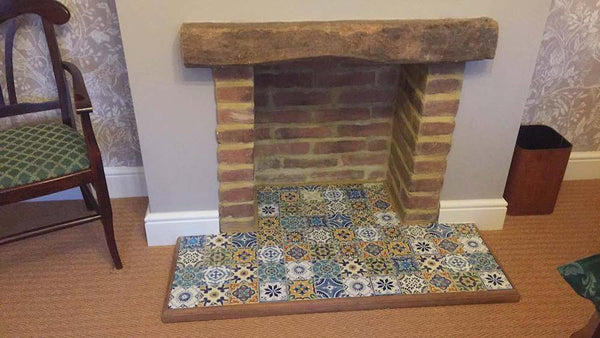 Old Gothic Brick Slips Used In A Faux Fireplace