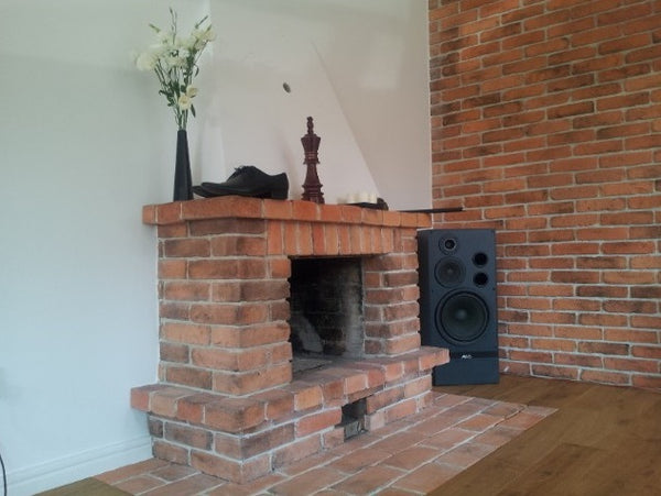 Old Natural Brick Slips Used On A Fireplace And Feature Wall