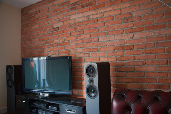 Old Natural Brick Slips Installed As A Feature Wall