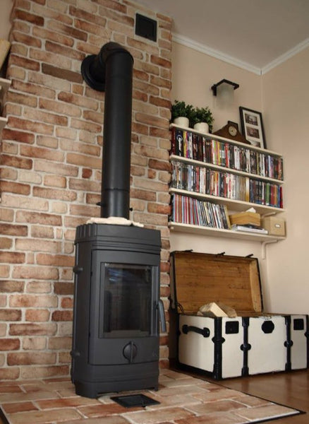 Old Rock Brick Slips Used As A Faux Chimney Breast