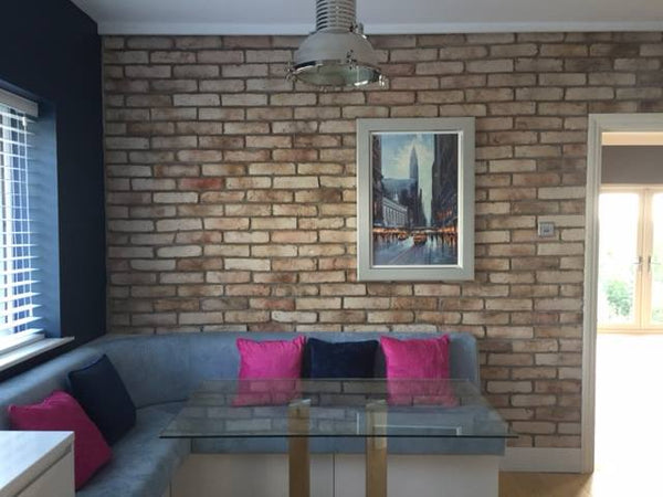 Old Rock Brick Slip Feature Wall