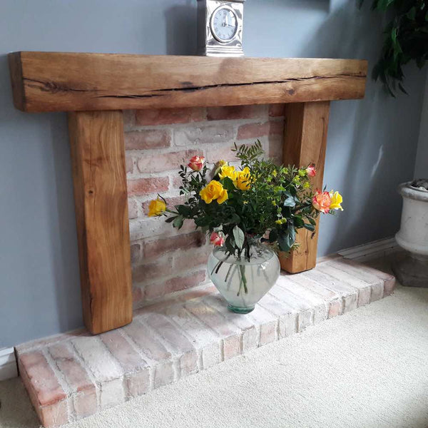 Old Rock Brick Slips Used In A Faux Fireplace