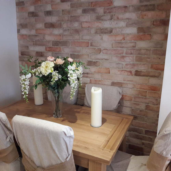 Old Rock Brick Slip Dining Feature Wall