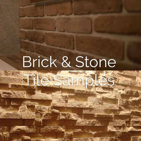 Brick Slips & Stone Split Face Tile Samples