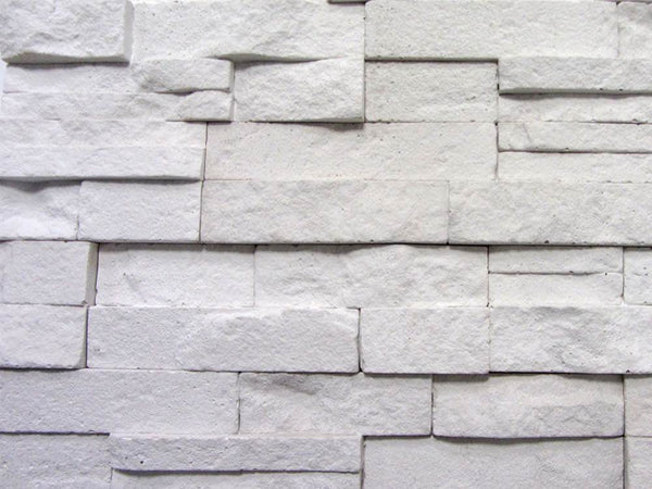 White Stone Split Face Tiles Zoomed View 1