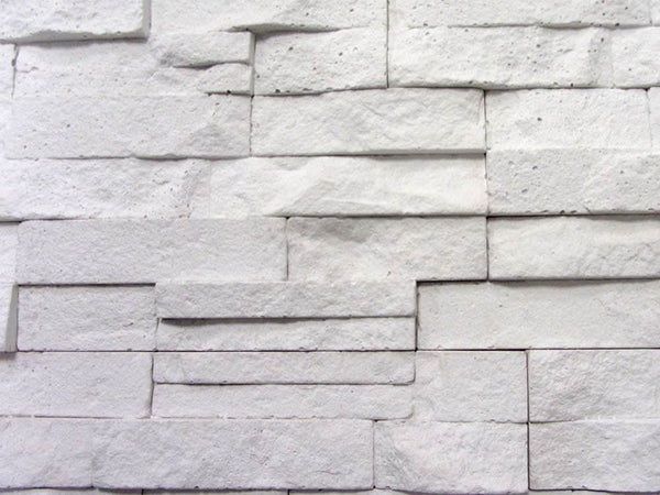 White Stone Split Face Tiles Zoomed View 2