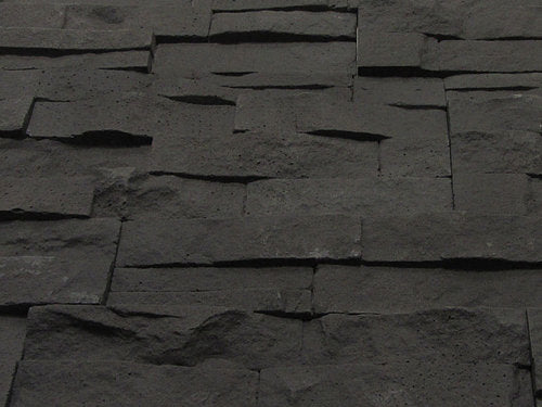 Graphite Stone Split Face Tiles Angled View