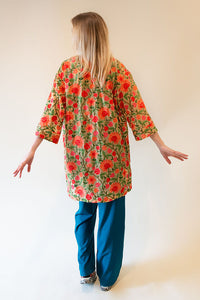Delhi Dreams Kimono - Romantic, Delicate Indian Fabric