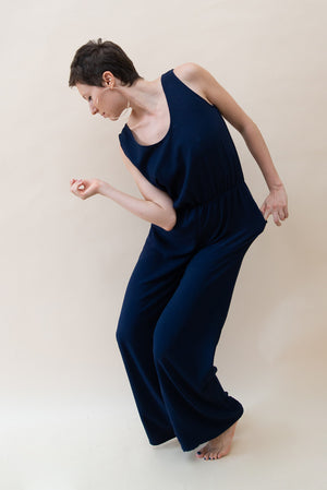 Sportive Jumpsuit - Dark Blue