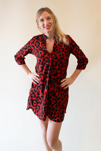The Alma Dress - Red Panter