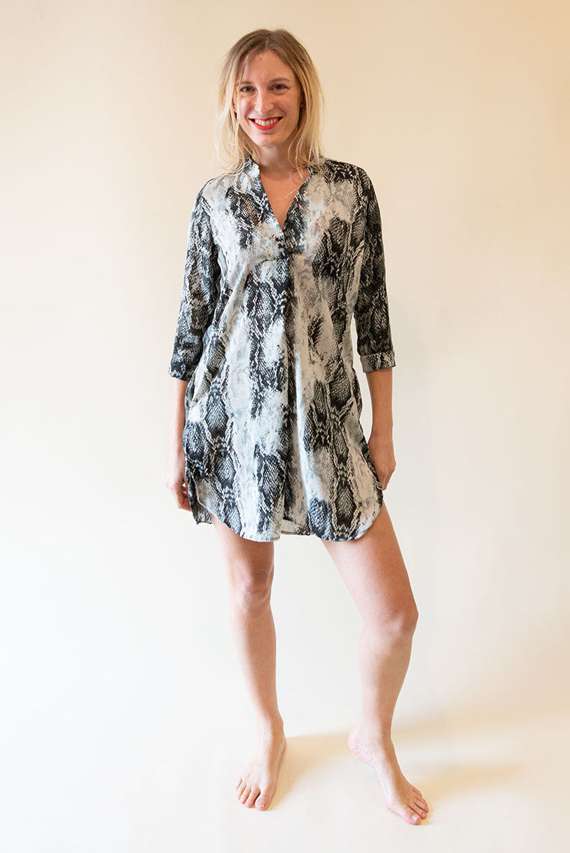 The Alma Dress - Snake Print