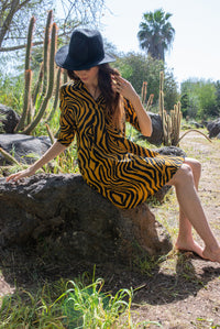 The Alma Dress - Tiger Print