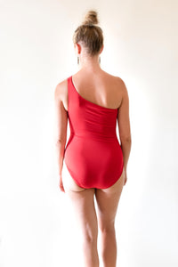 The Asymmetric Swimsuit - Red