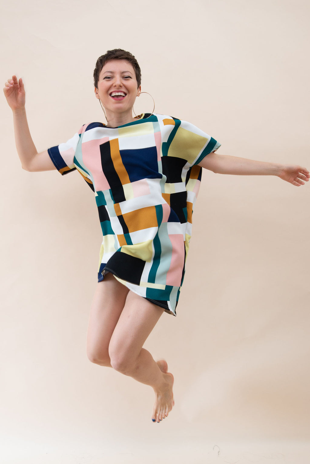 The Asymmetrical Dress - Colorful Cubics