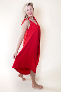 The Bali Jumpsuit - Bright Red