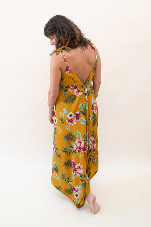 The Bali Jumpsuit - Yellow Florals