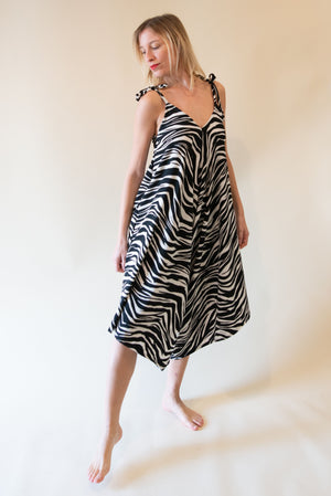 The Bali Jumpsuit - Zebra Print