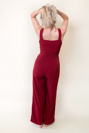 The Classic Chic Jumpsuit - Bordeaux