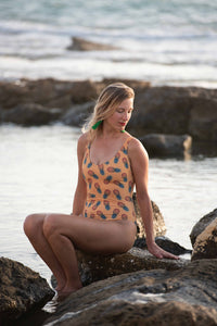 The Classic Swimsuit - Yellow Pineapple