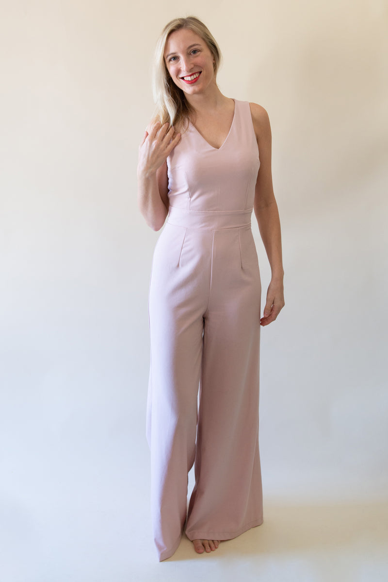 The Classic Wide-Leg Jumpsuit - Cream Color