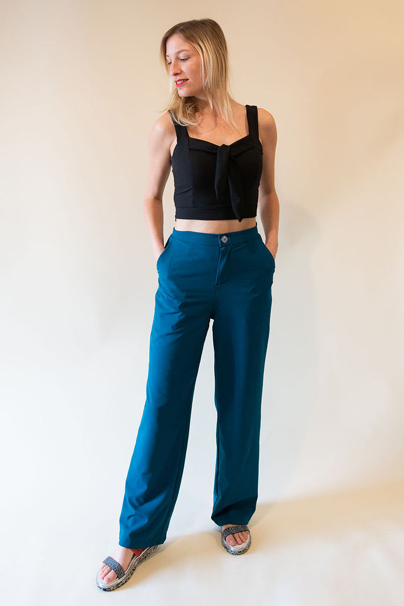 The High Waist Pants - Orange