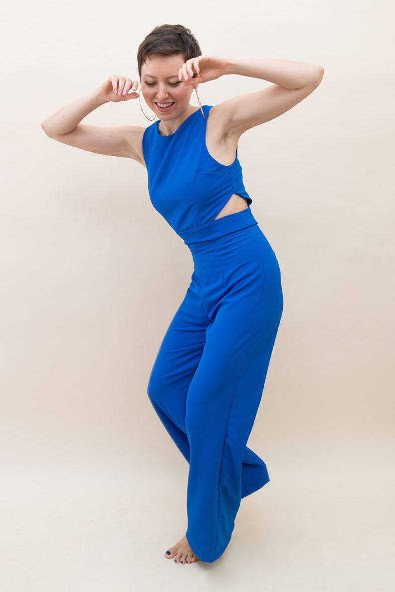 The Jumpsuit with Side Cut Outs - Royal Blue
