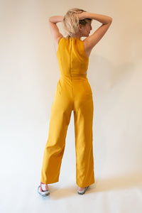 The Jumpsuit with Side Cut Outs - Yellow