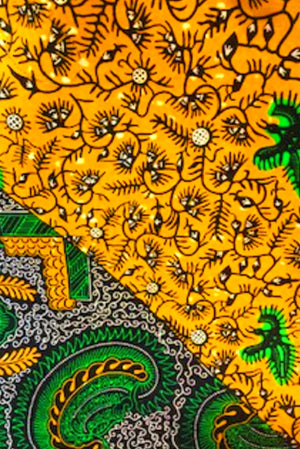Yellow with Green Patterns