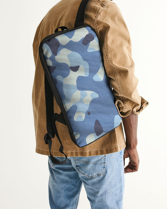 Blue Maniac Camouflage Slim Tech Backpack DromedarShop.com Online Boutique