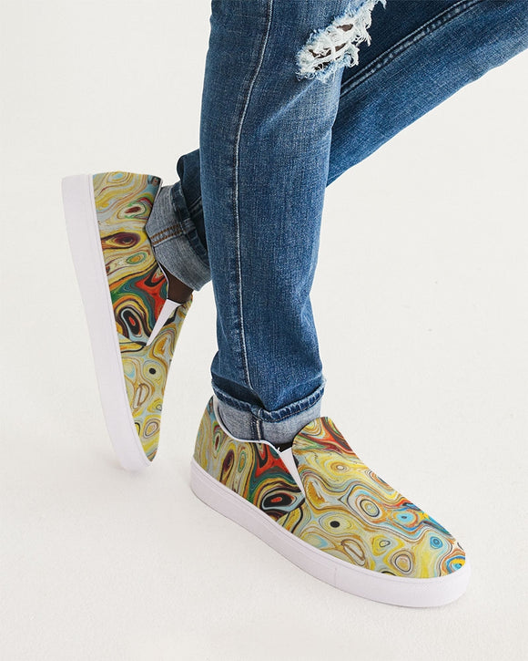 You Like Colors Men's Slip-On Canvas Shoe DromedarShop.com Online Boutique