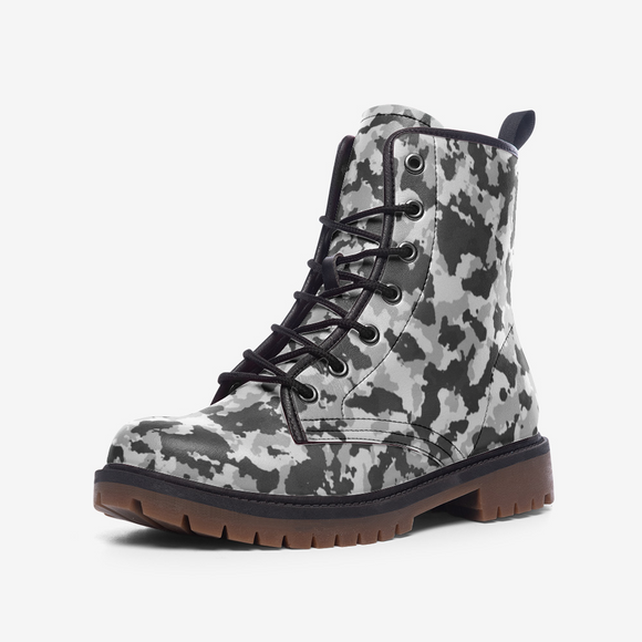 Camouflage Zero Casual Leather Lightweight Unisex Boots DromedarShop.com Online Boutique